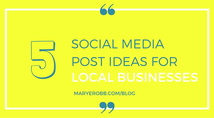social media posts for small businesses